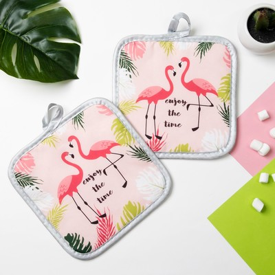 "Kuh. set of 2 St. Dolyana ""Enjoy"", potholder 16*16 cm - 2 PCs,100% p/e"