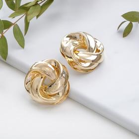 """Metal earrings """"Atmosphere"""" lamp, color gold"""