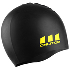 Swimming cap ONLITOP, silicone, color black