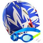 Набор для плавания: шапочка, очки, беруши, цвета МИКС