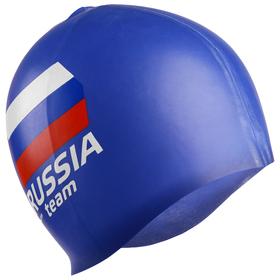 Шапочка для плавания RUSSIA team, силикон, цвета МИКС