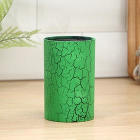 """Подставка для ножей 14х9 см """"Зелёный разлом"""", с наполнителем"""