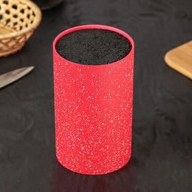Подставка для ножей 'Зефир' с наполнителем,18х11 см, цвет красный Ош