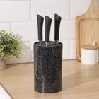 """Подставка для ножей """"Зефир"""" с наполнителем,18х11 см, цвет чёрный"""