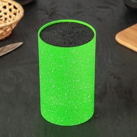 Подставка для ножей «Зефир», 11×18 см, с наполнителем, цвет зелёный