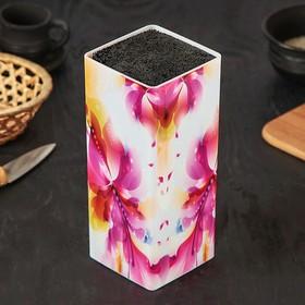 Подставка для ножей «Лилия», 22,5×10 см, с наполнителем