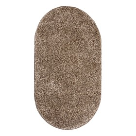 Ковёр Фризе «Шегги», цвет меланж, овал 160х230 см