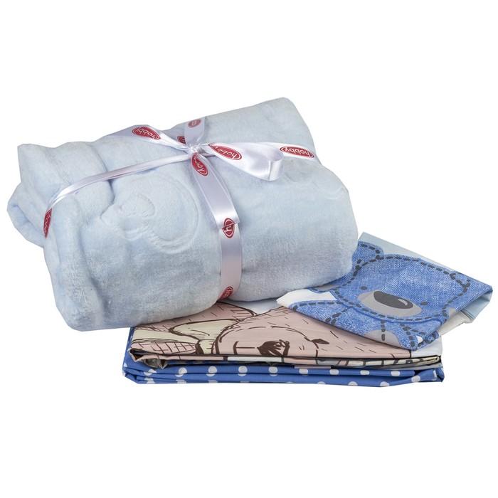 Комплект в кроватку Tombik, 6 предметов, цвет голубой, поплин
