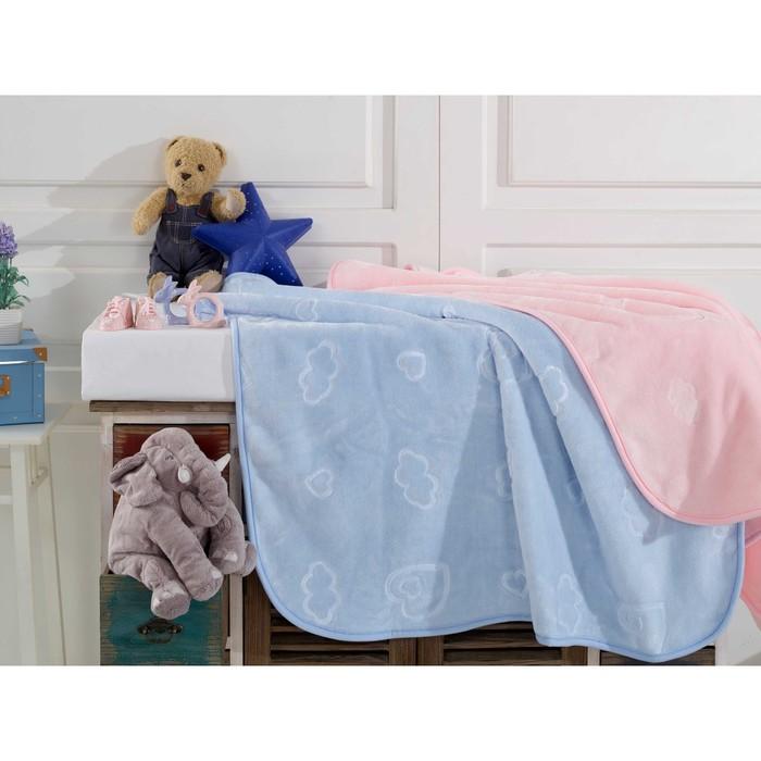 Покрывало «Облачко», размер 90х110 см, цвет розовый, велсофт
