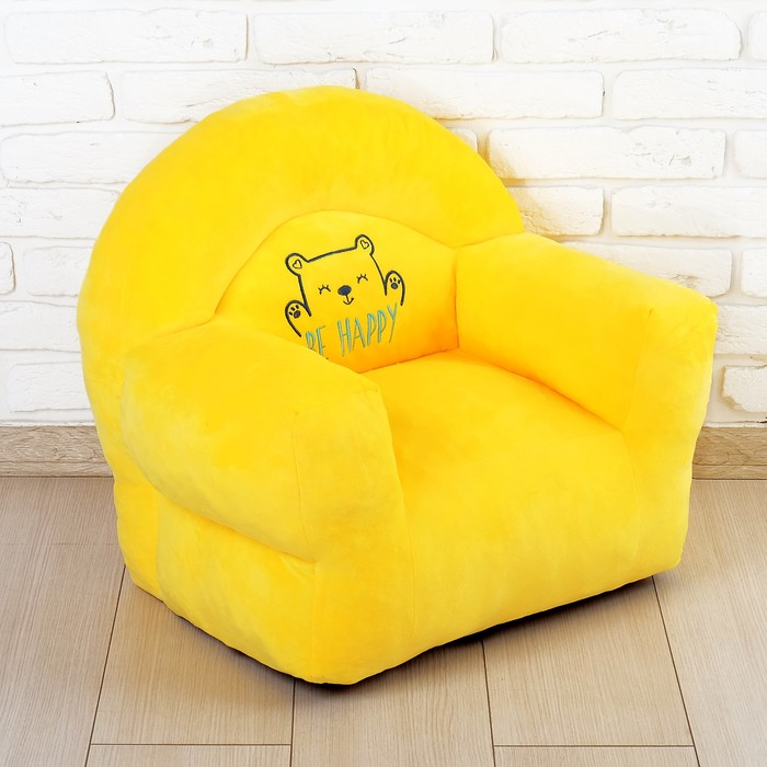 Мягкая игрушка «Кресло Мишка», цвет жёлтый