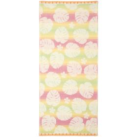 Полотенце махровое 'Монстера' 34х76 см, желто-розовый,380 г/м2, 100% хлопок Ош