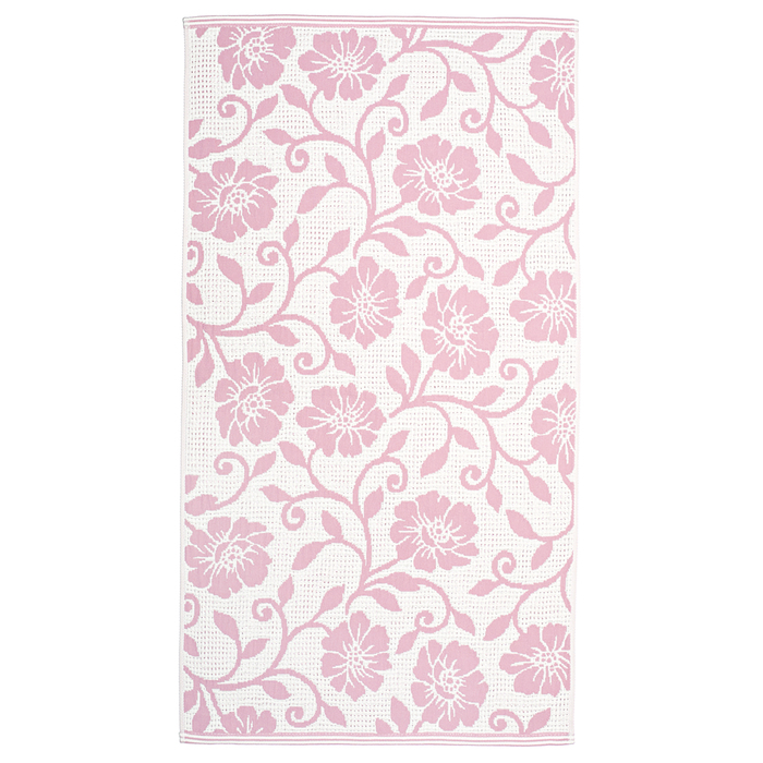 """Полотенце махровое """"Вьюнок"""" 65х135 см,розовый,360 г/м2, 100% хлопок"""