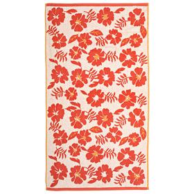 """Полотенце махровое """"Букет"""" 65х135 см,красный,380 г/м2, 100% хлопок"""