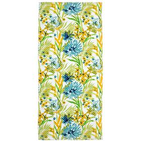 Полотенце махровое 'Токио' 34х76 см,желто-голубой,340 г/м2, 100% хлопок Ош