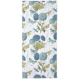 Полотенце махровое 'Флора' 34х76 см,голубой,310 г/м2, 100% хлопок Ош