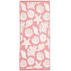 "Полотенце махровое ""Море"" 34х76 см,розовый,380 г/м2, 100% хлопок"