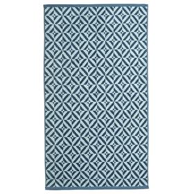 """Полотенце махровое """"Калейдоскоп"""" 65х135 см,синий,360 г/м2, 100% хлопок"""