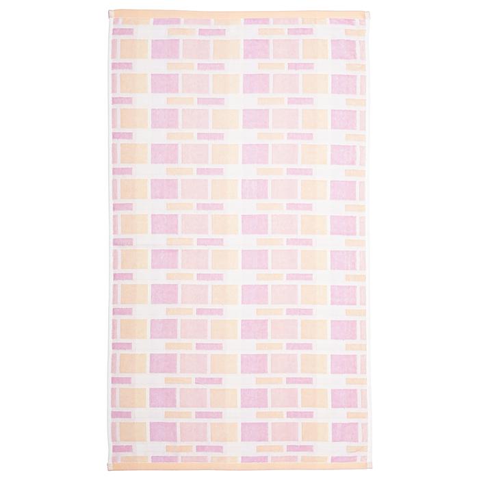 """Полотенце махровое """"Лабиринт"""" 65х135 см,розовый,380 г/м2, 100% хлопок"""