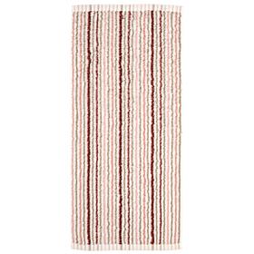 Полотенце махровое 'Полоски' 34х76 см,розовый,380 г/м2, 100% хлопок Ош