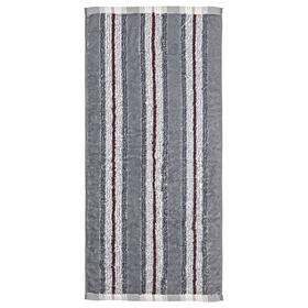 Полотенце махровое 'Полоски' 34х76 см,серый,380 г/м2, 100% хлопок Ош