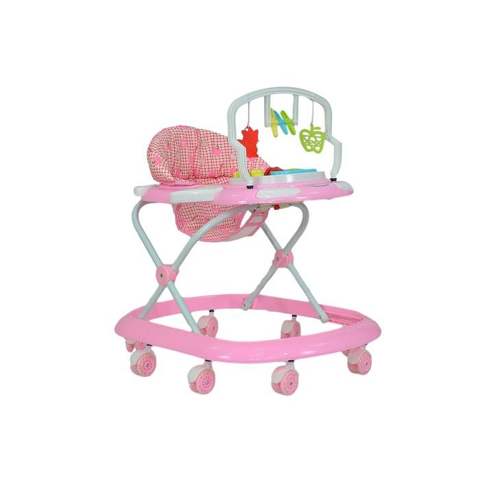 Ходунки детские Farfello, цвет розовый, принт вишенка
