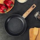 Сковорода кованая 20 см Natural. Black, ручка soft-touch, индукционное дно