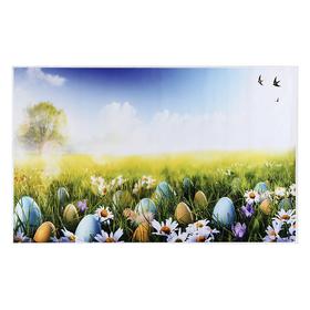 """Фотофон винил """"Крашенные яйца на лужайке"""" 80х125 см"""