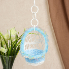 Basket decorative Cradle blue 14х10,5x10,5 cm