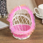Basket decorative Cradle pink 14х10,5x10,5 cm