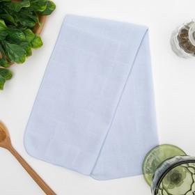 Полотенце махровое 'Нежность' 25х50 см,голубой,250 г/м2, 100% хлопок Ош