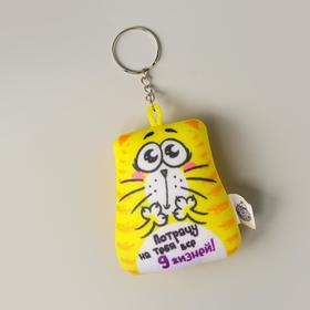 """Anti stress toy - keychain """"you will Spend all 9 lives!"""" 6*7cm"""