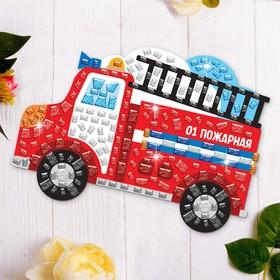Мозаика стикерная форменная «Пожарная машина»