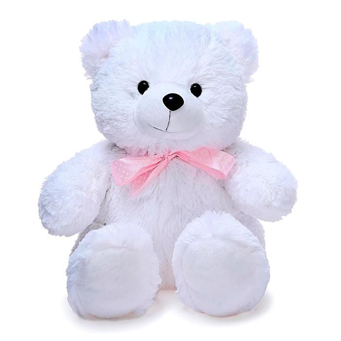 Мягкая игрушка «Медведь Эдди малый», цвет белый, 30 см - фото 4468882