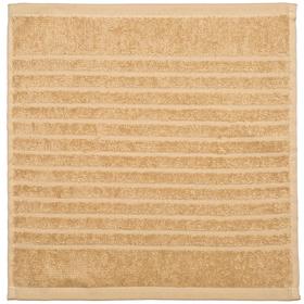 Полотенце махровое 'Салфетка' 33х33 см,песок,410 г/м2, 100% хлопок Ош