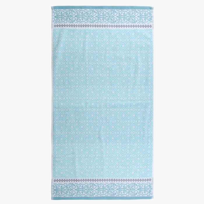 Полотенце махровое «Мозаика», размер 50х90 см, цвет голубой