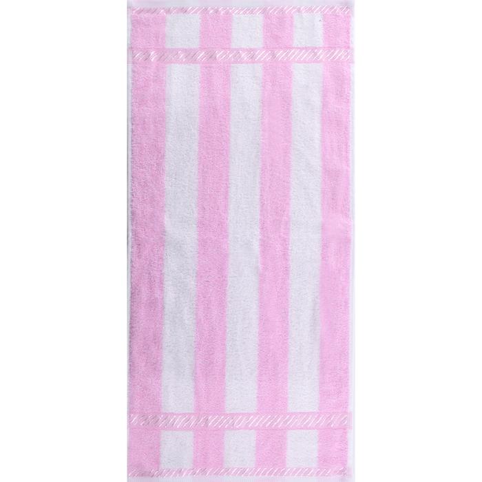 """Полотенце махровое """"Пастила"""" 65х135 см,розовый,390 г/м2, 100% хлопок"""
