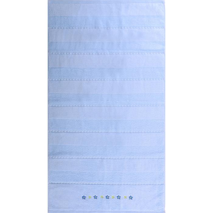 """Полотенце махровое """"Жемчуг"""" 50х90 см,голубой,420 г/м2, 100% хлопок"""