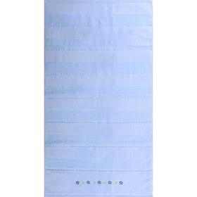 """Полотенце махровое  """"Жемчуг"""" 65х135 см,голубой,420 г/м2, 100% хлопок"""