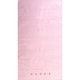 """Полотенце махровое  """"Жемчуг"""" 65х135 см,розовый,420 г/м2, 100% хлопок"""