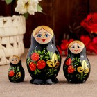 """Матрешка """"Вятская. Земляничка"""", 3 кукольная, 8 х 5,2 см"""