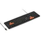 Клавиатура Dialog KS-020U Standart проводная, мембранная, 104 клавиши, USB,черная-оранжевая