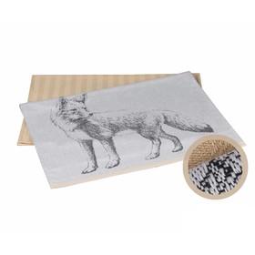 Набор полотенец Fox, размер 50 × 70 см - 2 шт, бежевый