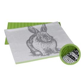 Набор полотенец Rabbit, размер 50 × 70 см - 2 шт, зелёный