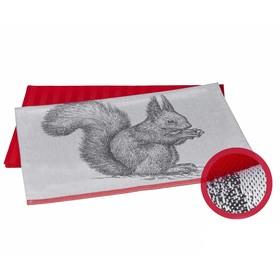 Набор полотенец Squirrel, размер 50 × 70 см - 2 шт, коралловый