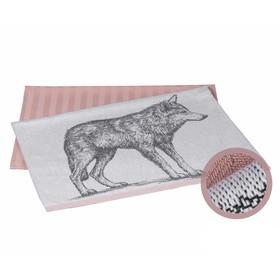 Набор полотенец Wolf, размер 50 × 70 см - 2 шт, лиловый