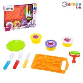 Набор для игры с пластилином «Шеф-повар», с подносом