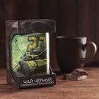 """Чай чёрный в тубусе """"23 февраля"""" танк, бергамот и лимон 100 г"""