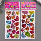 "Sticker plastic holography ""Hearts"" MIX 13h6,5 cm"