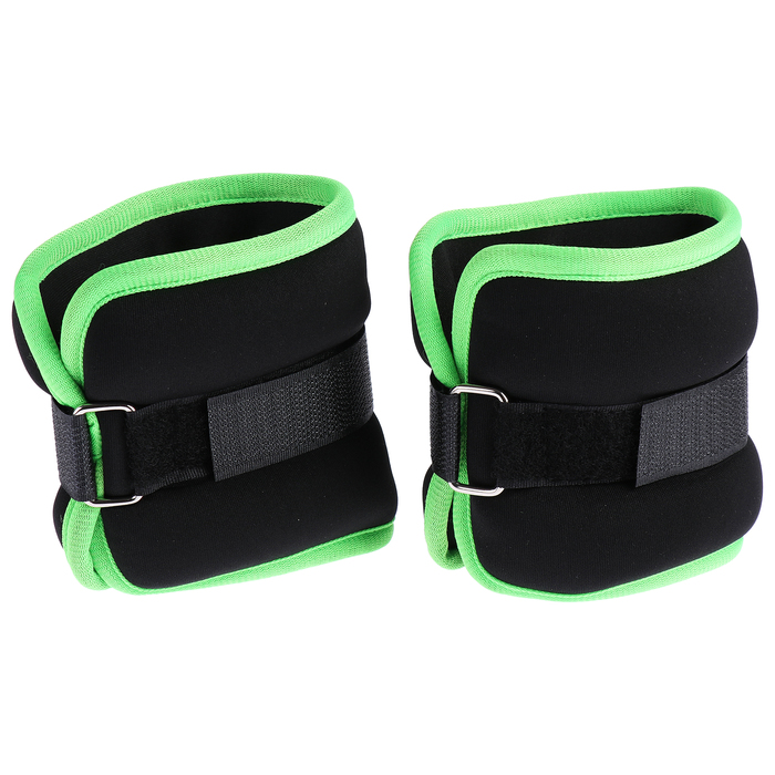 Утяжелитель неопреновый 0,5 кг (вес пары 1 кг), цвет чёрный/зелёный
