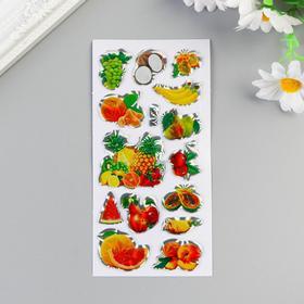Наклейка пластик голография 'Фруктовая лавка' МИКС 13х6,5 см Ош